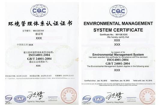 ISO14001:2015环境管理体系